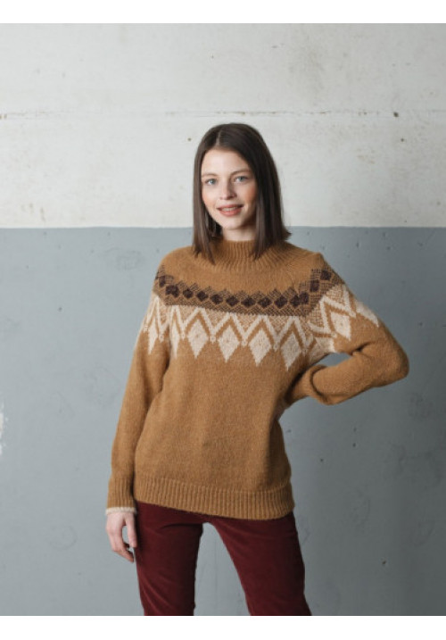 JERSEY INTARSIA ROMBOS CON LUREX, INDI & COLD